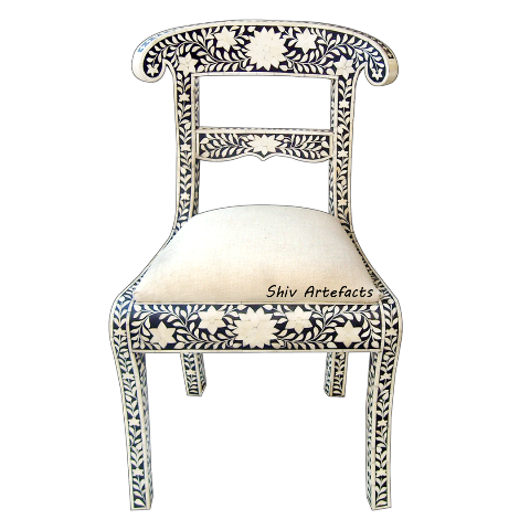 Genial BONE INLAY FLORAL DESIGN CHAIR